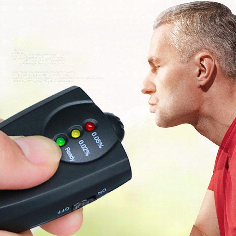 Mini Security Gas Alarm Detector Alcohol Tester Breathalyzer Portable Battery Powered Alcohol Sensor Police Heldhand Sensor