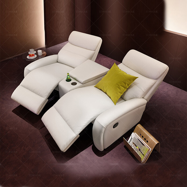 Leather Theater Dual Recliners  2