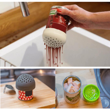 Multi-use Portable Micro Kitchen Colander Can Drainer Lid Fast Fuss-free Cooking Food Grade Silicone Dishwasher Safe ALI image