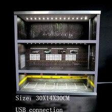 1/64 car display cabinet 1:64 model car parking lot scene prop garage storage cabinet