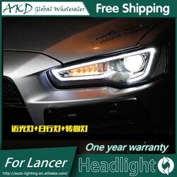 АКД автомобильный Стайлинг Головной фонарь для Mitsubishi Lancer фары Lancer EX Светодиодные фары DRL H7 D2H Hid вариант Angel Eye Bi Xenon луч