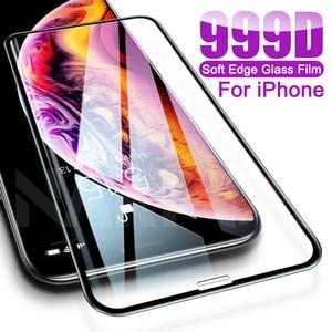 999D закаленное стекло для iPhone 11 Pro X XR XS Max защита экрана iPhone 8 7 6 6s Plus SE 2020 Защитная стеклянная пленка