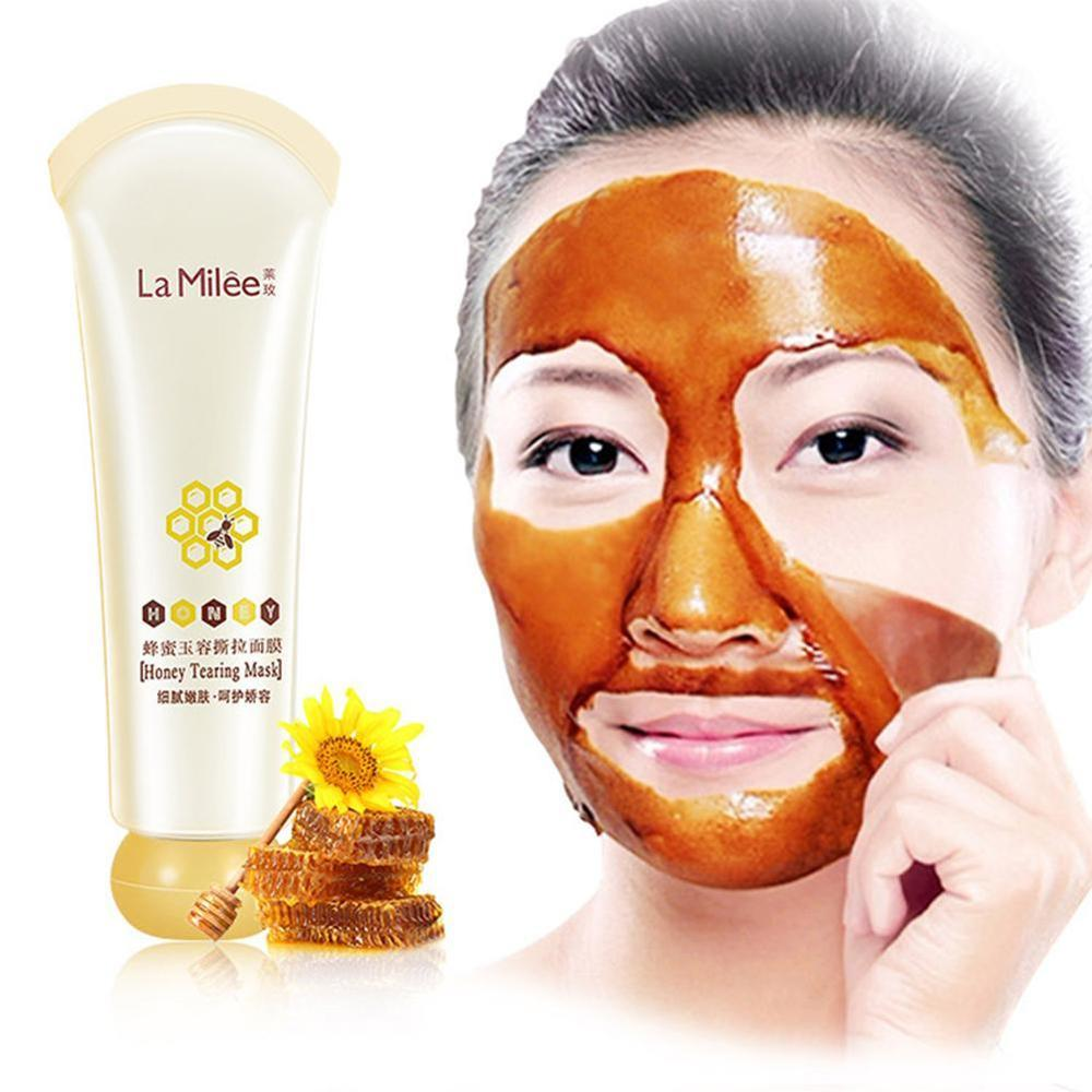 60G Honey Tearing Mask Peel Mask Oil Control Painless Blackhead Remover Peel Off Dead Skin Clean Pores Shrink Face Care