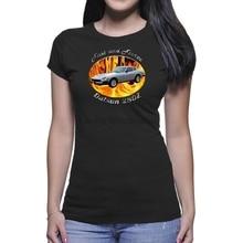 Camiseta escuro de mulher rápida e feroz datsun 280z