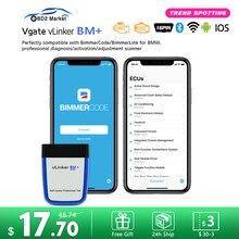 Vgate vLinker BM+ ELM327 V2.2 For BMW Scanner Bluetooth 4.0 wifi OBD 2 OBD2 Car Diagnostic ELM 327 Auto Tool For BMW Bimmercode
