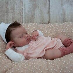 RBG Reborn Kit Reborn bébé vinyle Kit 20 pouces Loulou non peint inachevé poupée pièces bricolage blanc Reborn vinyle poupée Kit