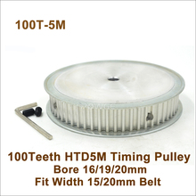 POWGE 100 Teeth 5M Synchronous Pulley Bore 16/19/20mm Fit Width15/20mm 5M Belt 100T 100Teeth HTD 5M Timing Belt Pulley 100-5M AF