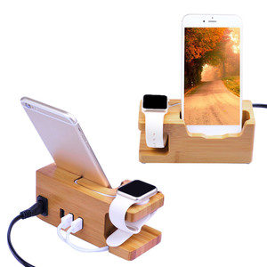 Image 4 - Besegad Bamboo Charging Charger Dock Mount Holder Station for Apple Watch iWatch Series 4 3 2 1 38/42mm iPhone 10 X 8 7 6s Plus