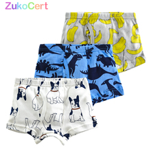 Kid Underwear Briefs Boys Boxer Teenager Cotton Organic Soft for 3pcs/Lot 2-10years