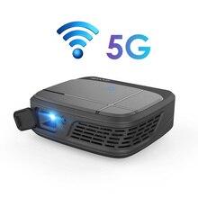 מיני 4K טלפון מקרן Caiwei H6AB אנדרואיד 7.1 כפולה WIFI Bluetooth 4.0 נייד מקרן מלא HD DLP נייד עבור קולנוע ביתי