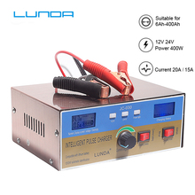 intelligent full automatic car battery charger 12v 10a 24v 7a pulse repair motorcycle scooter battery charger for acid lithium 400W Automatic 110V-250V Full Intelligent Repair Battery Charger Pulse 12V 24V for lithium AGM GEL WET Lead Acid batteries