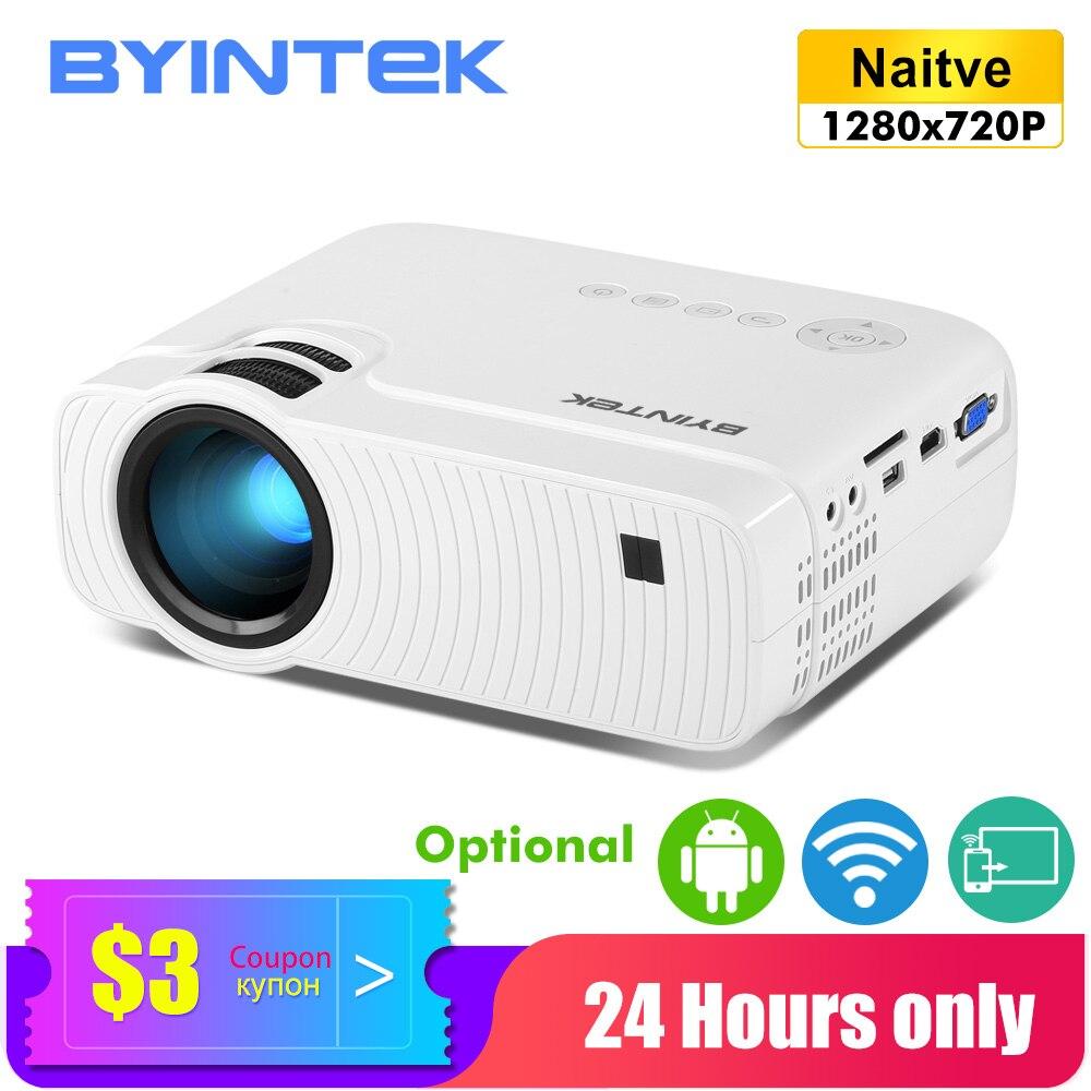 BYINTEK Mini projecteur K2 ,1280x720P, intelligent Android Wifi vidéo projecteur; Portable LED Proyector pour 1080P 3D 4K Home cinéma