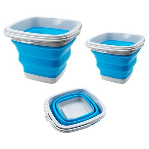10l 5l balde silicone plastico dobravel