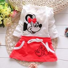 Baby Meisjes Jurk Zomer Infantiele Jurken Katoen Kinderkleding Minnie Stiksels Pasgeboren Jurk Kinderen Kleding Prinses Jurk
