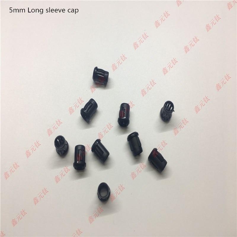 Led Lighting Beads 3mm 5mm 10mm Long Sleeve Cap Plastic Lamp Holder Black Round Head Lamp Holder