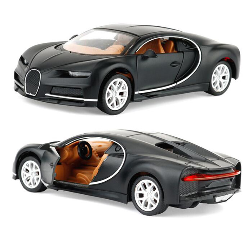 1:32 Scale Diecast Alloy Bugatti Chiron Sports Car Model Matel Vehicles Toys Miniature Playing For Children Kids Collection Gift