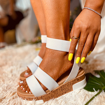 Women Sandals Chunky Heel Open Toe Shoes With Platform Ladies Sandals High Heel Comfortable Female Sandalias Summer Sandals D30 womens high heel summer shoes single strap open toe sandals street shoes snake grain pattern yellow street sandals