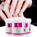 120 мл акриловая пудра, прозрачная, розовая, белая резьба, Кристальный полимер, 3D пудра для дизайна ногтей, строительный гель для ногтей