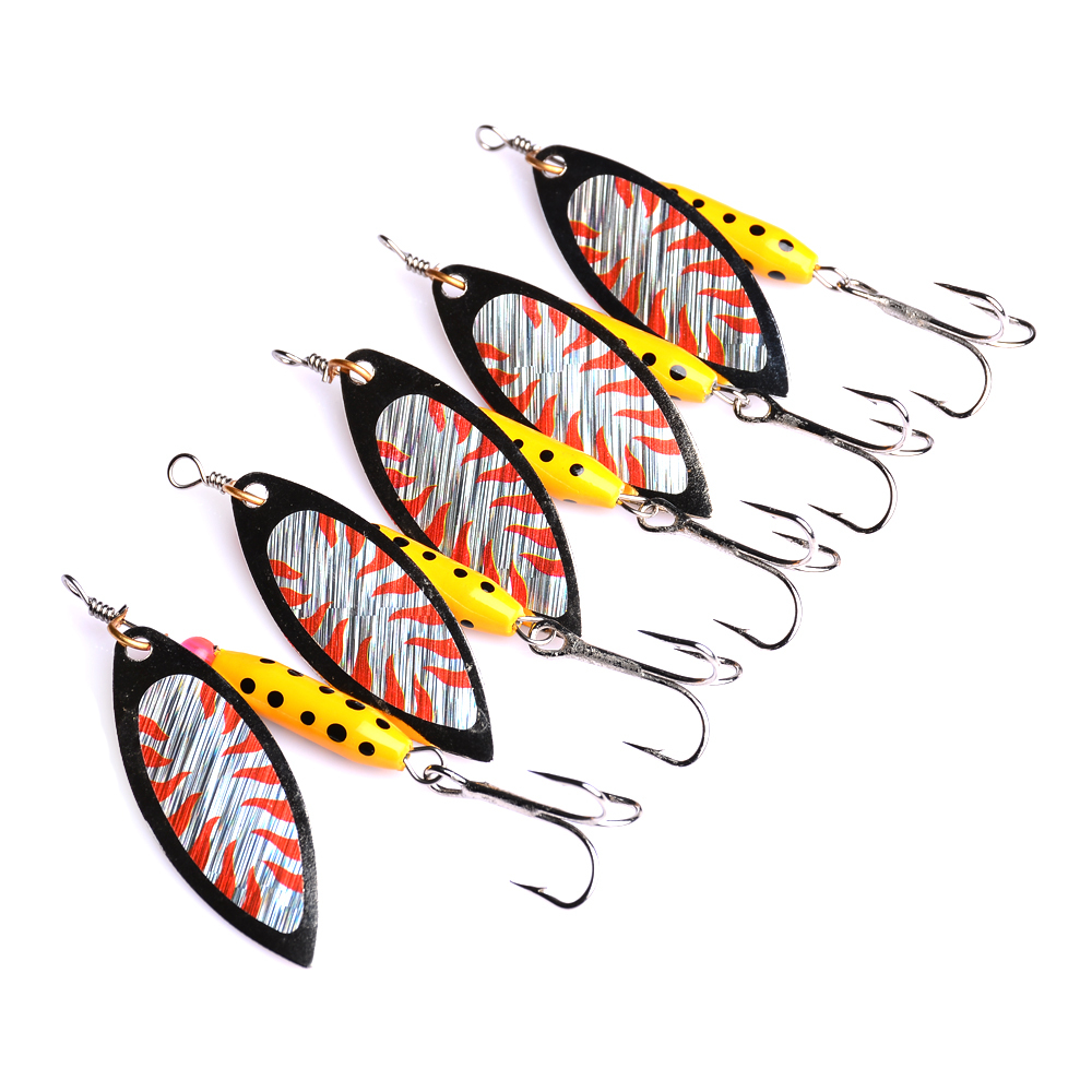 1pcs Colorful Spinner Fishing Lures Wobblers CrankBaits Jig Metal Sequin Trout Spoon Pesca Isca Artificial Hard Baits in Fishing Lures from Sports Entertainment