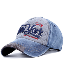 Helisopus New Cowboy Baseball Caps Letter Embroidery Vintage Washed Casual Mens Cap Unisex Outdoor Sports Sun Hats