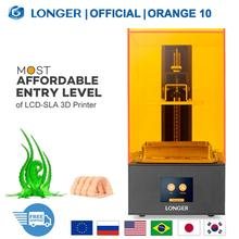 LONGER Orange10 3D Printer Betaalbare SLA 3D Afdrukken Smart Ondersteuning Snelle Snijden UV Licht Curing Gemakkelijk Bedienen Instapmodel