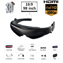 HD922 FPV 3D video glasses 2 meters distance 98 inches virtual display large screen Support IOS and Android HD input 1080P