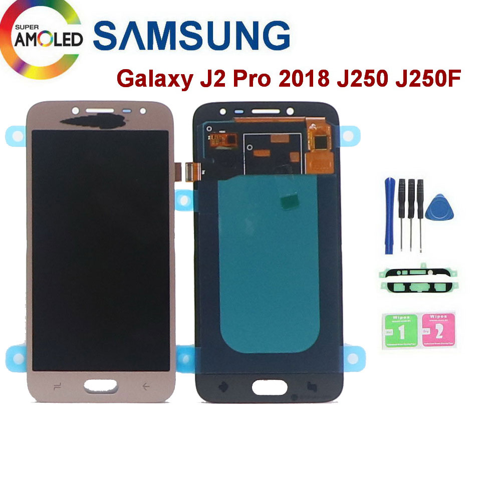 Super Amoled For <font><b>SAMSUNG</b></font> <font><b>Galaxy</b></font> <font><b>J2</b></font> Pro LCD Display <font><b>2018</b></font> J250 <font><b>J250F</b></font> <font><b>SM</b></font>-<font><b>J250F</b></font>/DS LCD Display Touch Screen Digitizer Assembly image