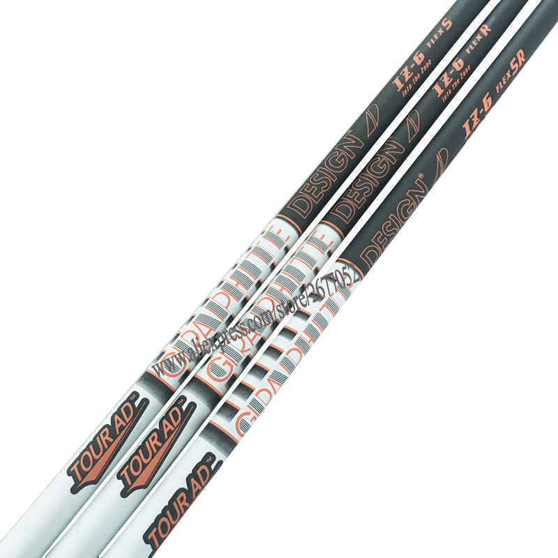 New Golf Shaft Tour AD IZ-6 Graphite Shaft Regular Or Stiff Flex Driver  Wood Clubs Golf Shaft Free Shipping
