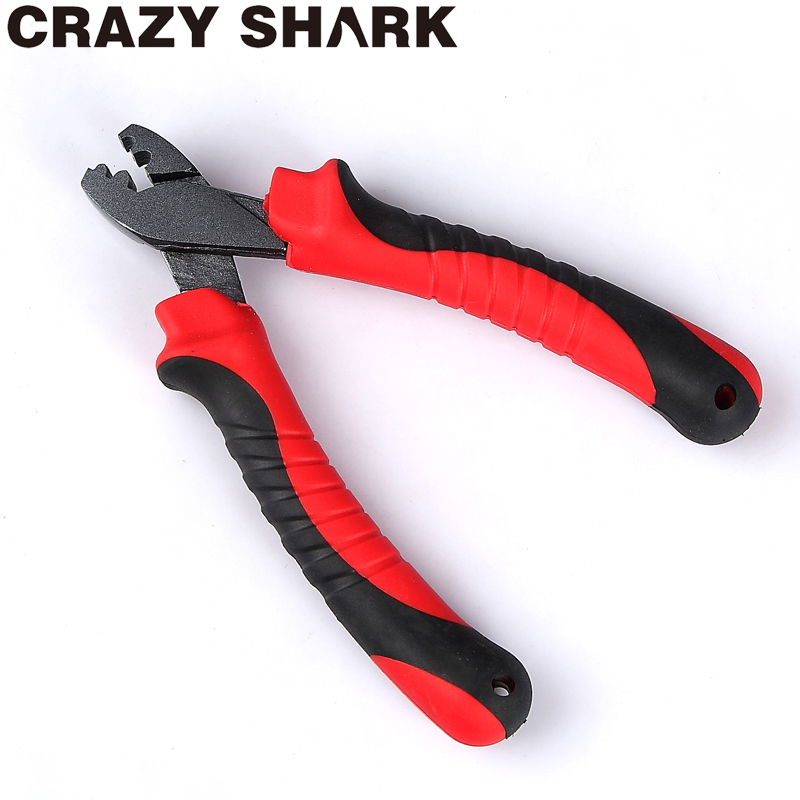 Crazy Shark Fishing Crimping Pliers Line Barrel Sleeves Cutter Scissors Tackle For Grip Hooks Goods For Fishing