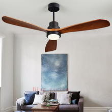 High quality Wooden Ceiling Fans Bedroom 220v LED Ceiling Fan Wood Ceiling Fans With Lights Remote Control Ventilador De Teto cheap Bing Vision ART DECO STAINLESS STEEL 42 52 BVWW Wedge