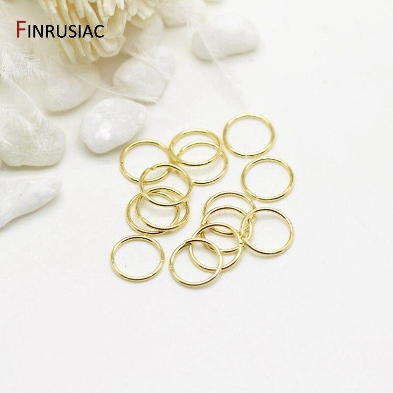 100 шт./лот, оптовые кольца 4 мм/5 мм/6 мм/8 мм, открытые кольца для изготовления ювелирных изделий, 14 к, позолоченные латунные металлические коль...