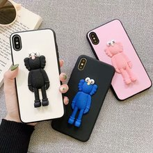cartoon cool kaw 3d doll phone case for iphone 6 7 8 s plus xr xs xs max 11pro max tpu pc anti-fall