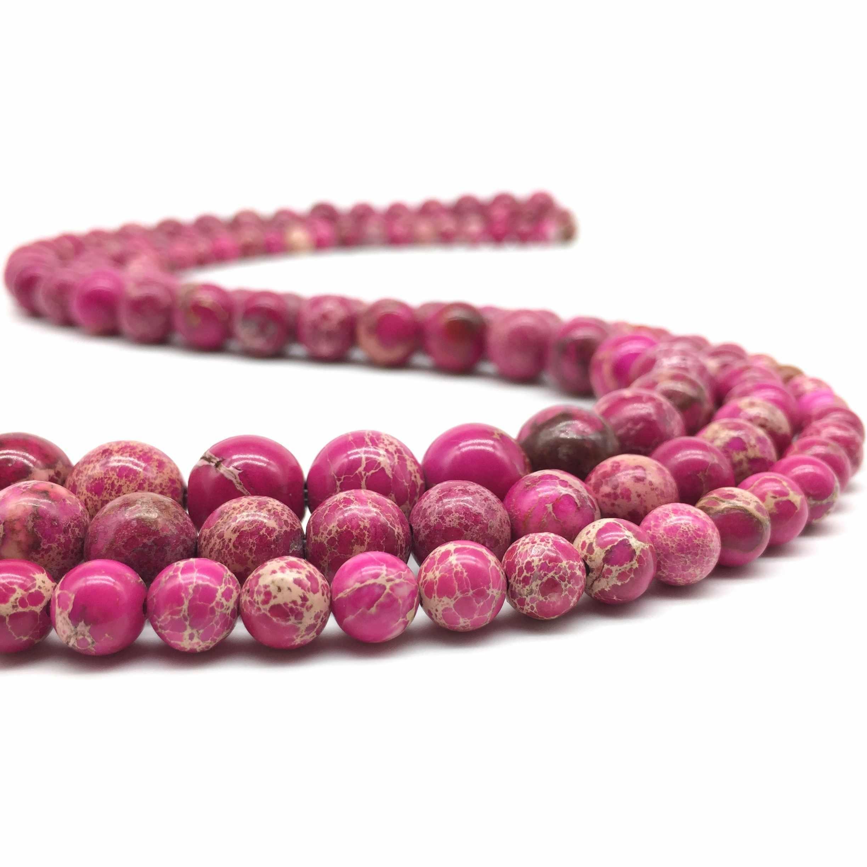 Натуральный розовый красный Императорский камень Бусины Императорский камень для самостоятельного изготовления ювелирных изделий браслет ожерелье оптовая продажа 4 мм/6 мм/8 мм/10 мм/12 мм