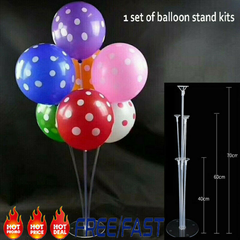 70cm Plastic Balloon Accessory Base Table <font><b>Support</b></font> Holder Cup Stick Stand Birthday Wedding Party Decor Accessory image