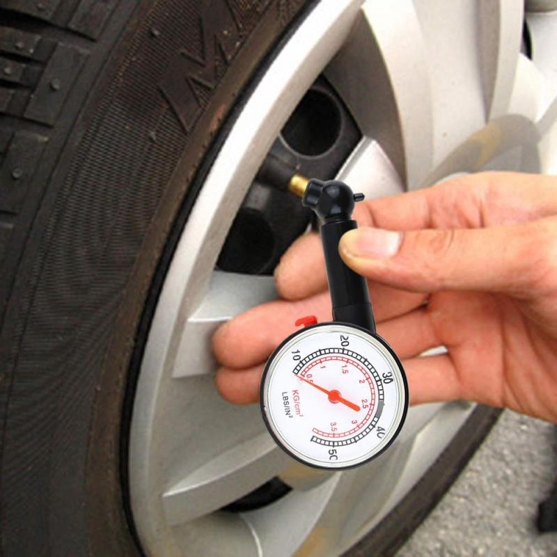 High Accuracy Save Gas Car Vehicle Motorcycle Digital 5-55PSI Dial Tire Gauge Meter Pressure Tyre Measurement Tire Repair Tool