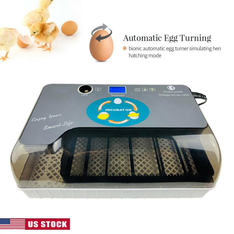 Цифровой автоматический 4 35 яиц инкубатор аппарат для искусственного высиживания для утиных птиц гуся
