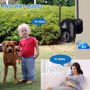 Image 3 - Zjuxin PTZ Camera Ip Wifi HD1080P Không Dây Có Dây PTZ Quan Sát Ngoài Trời An Ninh Camra Đèn Đôi Con Người Phát Hiện Ái Cloud Camera