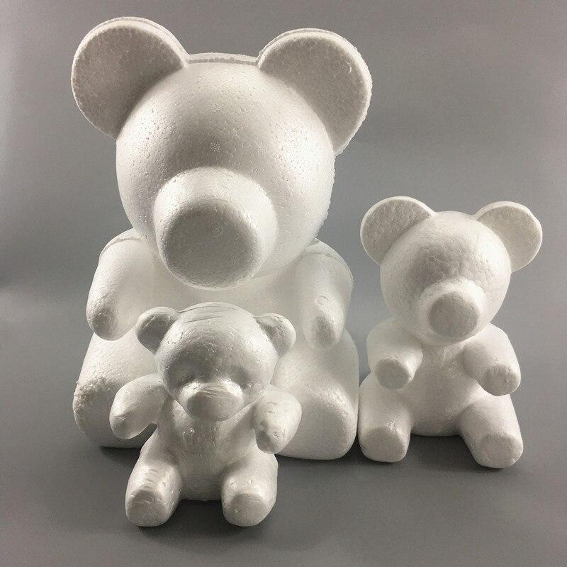 Дешевые 1 шт пенополистирол медведь белый шар ремесло DIY Рождественские украшения подарки|Искусственные и сухие цветы|   | АлиЭкспресс