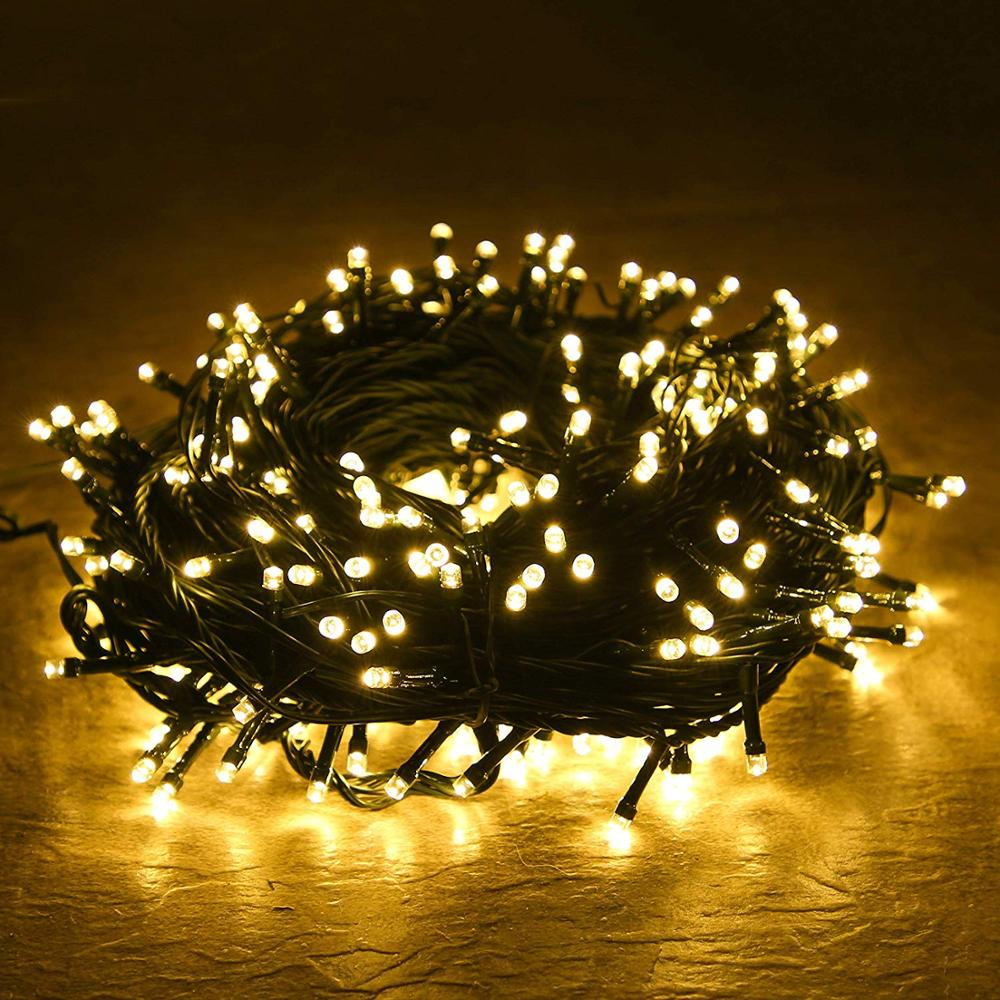 100M 1000LED 50M 800LED String Lights Fairy Garland Christmas Party Wedding Xmas Holiday 8 Mode Lights Indoor Outdoor Decoration