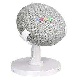 ABGN Hot uchwyt na stół dla asystentów głosowych Google Home Mini  obrotowa podstawka biurowa o 360 stopni poprawia widoczność dźwięku w Akcesoria do głośników od Elektronika użytkowa na
