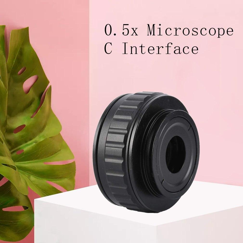 0.5X c-mount lentille 0.5X CTV adaptateur pour trinoculaire stéréo Zoom Microscope caméra 0.5 Interface Microscope caméra adaptateurs