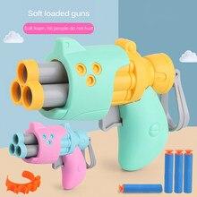 1Pc Children Soft Bullet Pistol Toy Kids Outdoor Fun Toy Soft Bullet Shooting Plastic Toy Gun Boy Gift 4 Colors Random Shipping