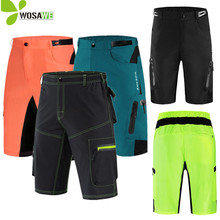 WOSAWE Reflective Mens MTB Bike Cycling Shorts Summer Sports Breathable Bicycle Downhill Riding Racing Water Resistance
