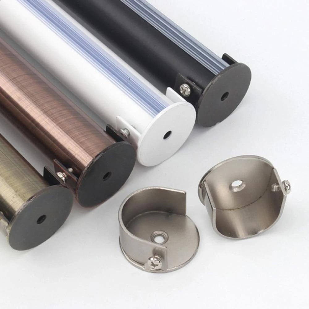 2pcs closet rod bracket holder u shape socket brace shower rod pole support curtain rod bracket with screws