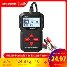 KONNWEI KW210 التلقائي الذكية 12 فولت سيارة جهاز اختبار بطارية السيارات مُحلل بطارية 100 إلى 2000CCA التحريك جهاز اختبار بطارية السيارة