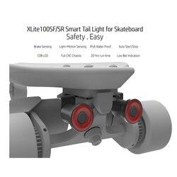 Monopatín Xlite100 luces LED de advertencia de luz a prueba de agua Usb recargable lámpara de advertencia nocturna 2 uds para Scooter Eléctrico Longboard