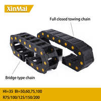 Bridge chain 35*50 35*60 35*75 35*100 Open Cable Drag Chain Wire Carrier Towline Cable carrier towing chain
