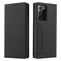 S.Dawezo-Funda de cuero PU para Samsung Note 20 Ultra, carcasa con Cierre magnético, tarjetero, Kickstand, color negro
