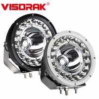 "VISORAK 9"" New Super Bright Offroad LED Work Light Bar 4WD 4x4 ATV SUV Boat LED Search Light For 4WD 4x4 Boat Car SUV ATV Truck"