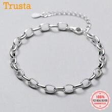 Chain Bracelet Bangle 925-Sterling-Silver Jewelry Wedding Trustdavis Women Fashion Real